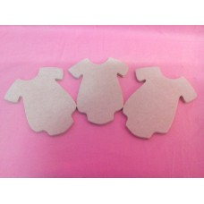 4mm Thick MDF Baby Romper suit at 100mm size pack of 3